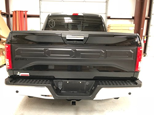 Panel Trim Tailgate (2015-2017 Ford F150 Raptor Style Tail Gate Applique Rear Trim Panel)