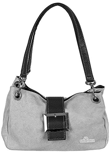 Border Liatalia Brown 'pixie' Small Gray Bag With Suede Soft Light CFAqCz