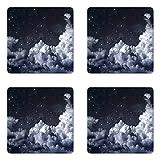 Lunarable Night Sky Coaster Set of Four, Nocturnal