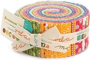 Meadowbloom By Prairie Grass Patterns Moda Jelly Roll, Set of 40 2.5x44-inch (6.4x112cm) Precut Cotton Fabric Strips