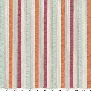 The Yard - Tela de algodón, diseño de rayas, color rosa y naranja: Amazon.es: Juguetes y juegos