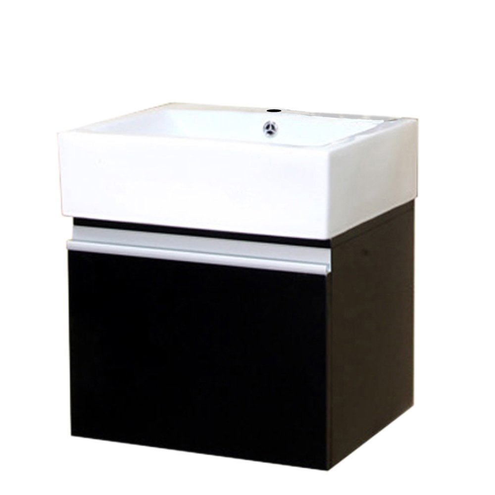 Bellaterra Home 203145-S 20.5-Inch Single Wall Mount Style Sink Vanity, Wood, Espresso