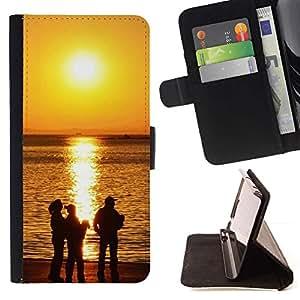 Momo Phone Case / Flip Funda de Cuero Case Cover - Sunset Beautiful Nature 118 - Apple Iphone 5C