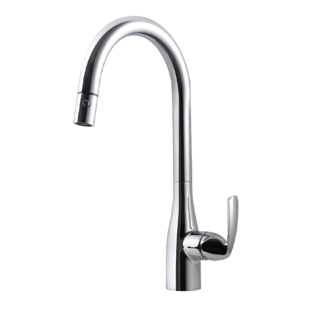 Houzer CORPD-569-PC Cora Pull Down Kitchen Faucet, Polished Chrome
