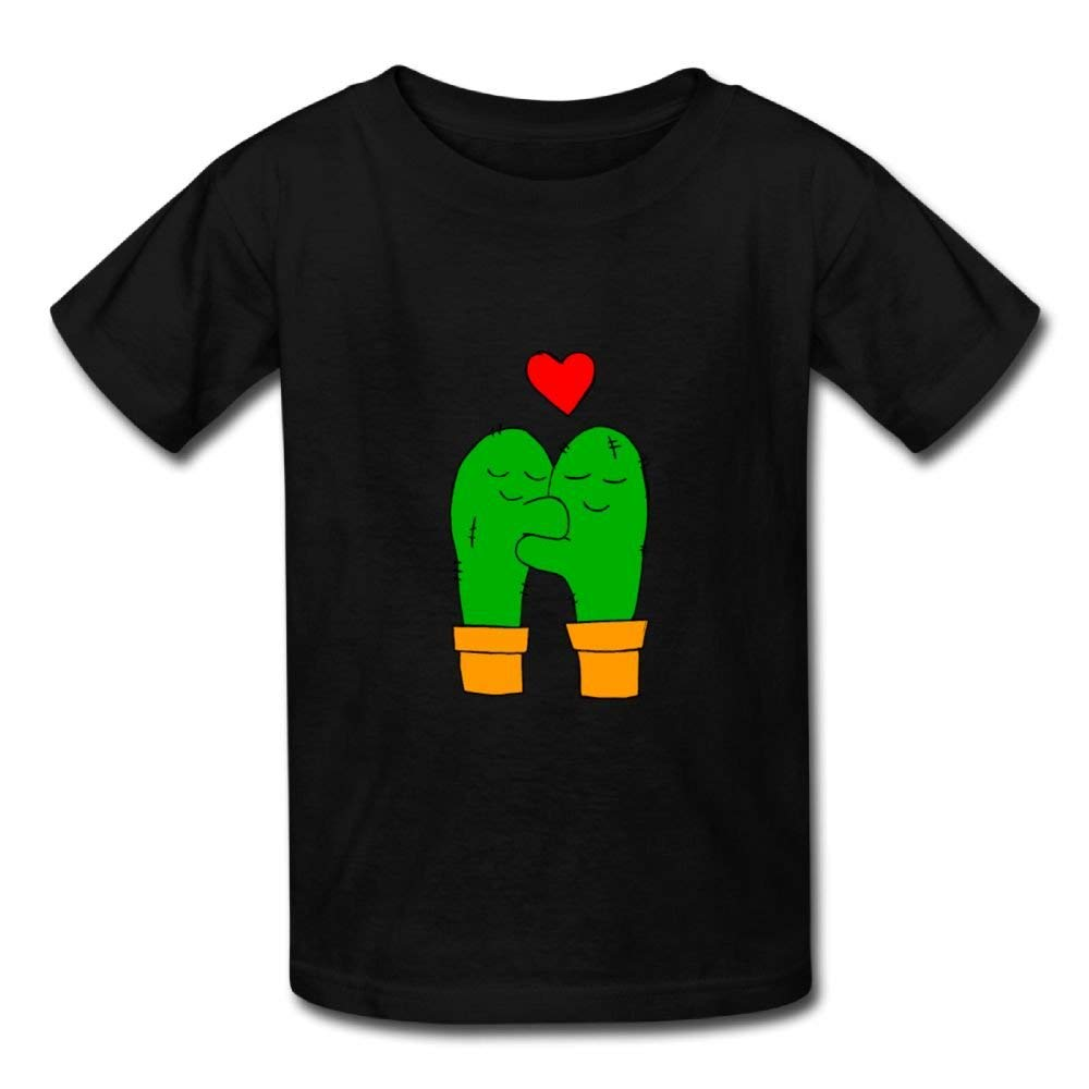 Short Sleeve T-Shirt Two Green Cactus and Red Hearts Baby Girls Infant