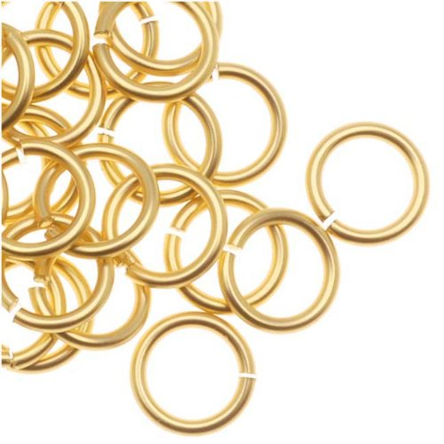 Artistic Wire, Chain Maille Jump Rings, 20 Ga / ID 4.37mm / 120pc, Tarnish Resistant Gold Tone (Artistic Wire Round Nose Pliers)