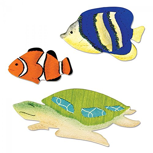 Sizzix A11001 Bigz Die, Angelfish, Clownfish and Sea Turtle