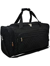 "Solid NGIL Quilted Carry on Shoulder 23"" Duffle Bag"