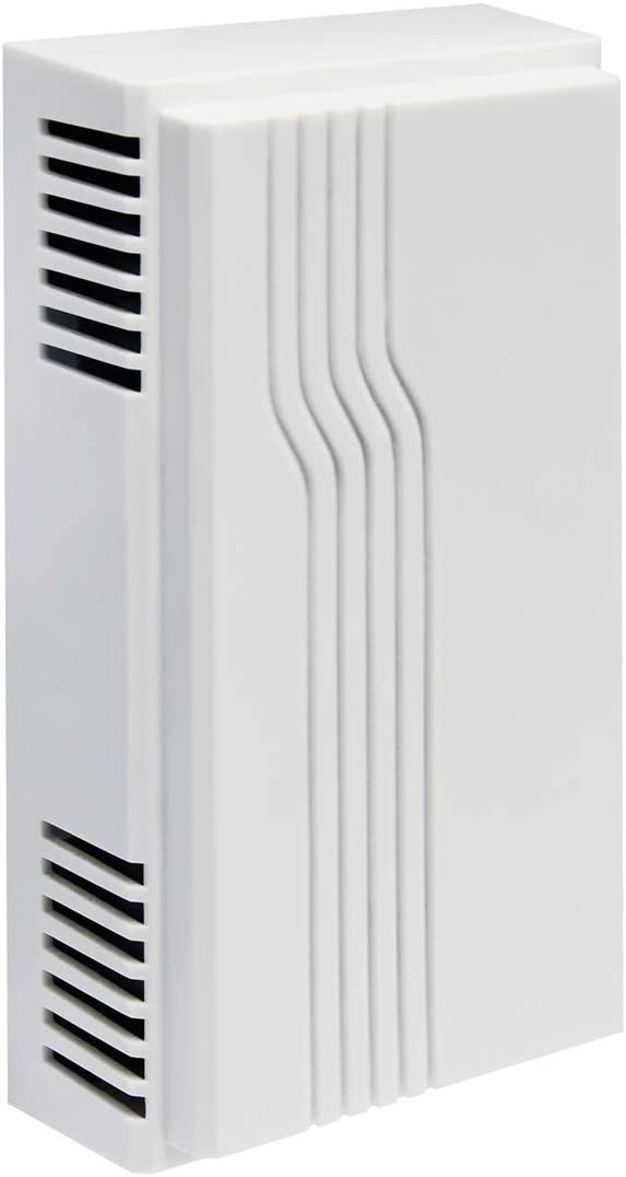 IQ America DW-2400 Wired Door Chime with Modern Design Cover, White, 2-Note or 1-Note (Replaces DW-2405 and DW-2403A) (1)