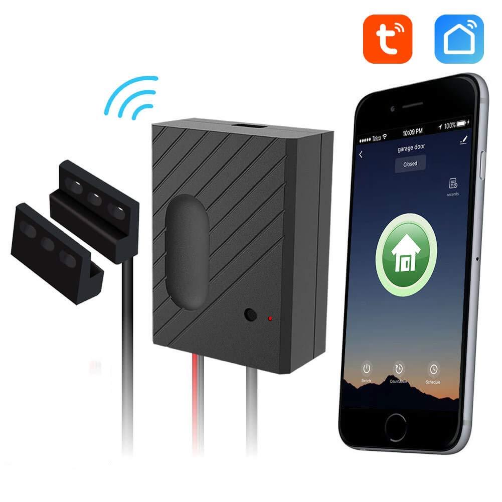 EACHEN ワイヤレススマートホームガレージドアオープナー WiFiリモートコントローラー TUYA スマートライフアプリ Alexa Google Home IFTTT GD-DC5に対応 B07GGRCH23