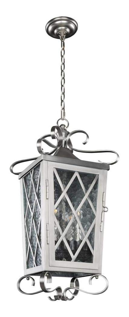 Trellis Medium Hanging Lantern Steel