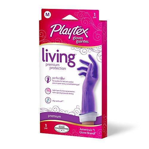 : Playtex Living Reuseable Rubber Gloves (Medium, Pack - 3)