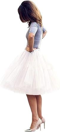 Enagua de Tull Faldas para Mujer tutú Cancan 50s Retro Rockabilly ...