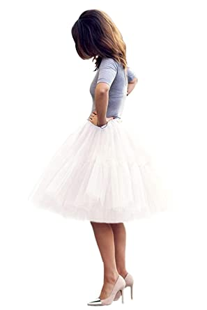 5e169d164 Enagua de Tull Faldas para Mujer tutú Cancan 50s Retro Rockabilly ...