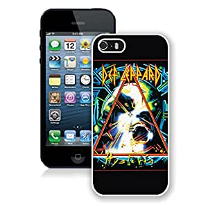 New Unique Designed Cover Case For iPhone 5S With def leppard hysteria iPhone 5s White Phone Case 112