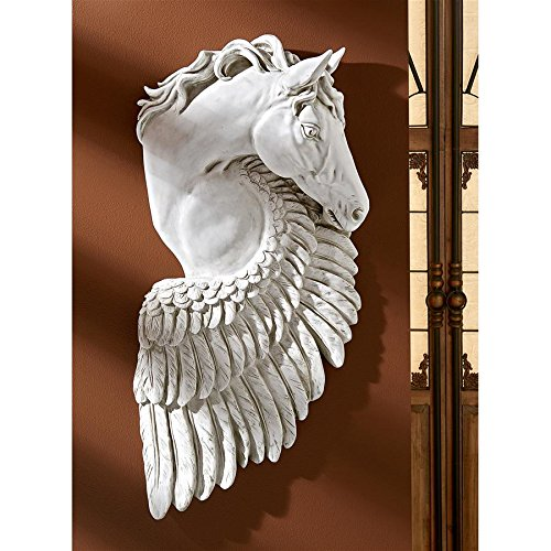 Design Toscano Wings of Fury Pegasus Horse Wall Sculpture -