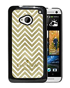 New Fashion Custom Designed Kate Spade Cover Case For HTC ONE M7 Black Phone Case 110