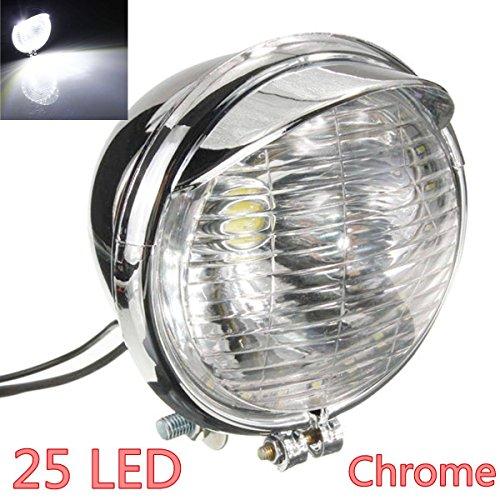 AUDEW Universal Motorcycle Headlight Chrome product image