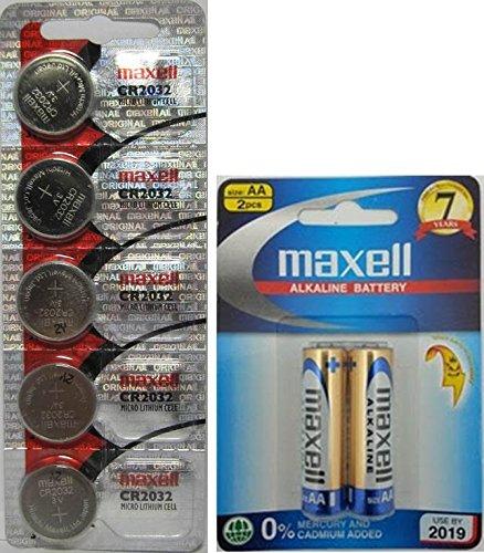 maxell-cr2032-lithium-batteries-pack-of-5-new-hologram-package-2-maxell-aa-lr6-alkaline-15v-zero-mer