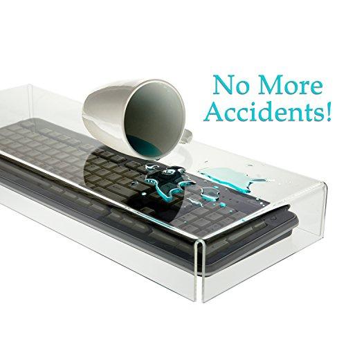 Source One Premium Clear Acrylic Keyboard Cover, - Keyboard Clear Acrylic