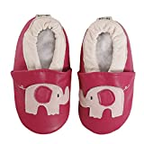 FREE FISHER Baby Girls Boys Shoes Toddler Soft Sole Prewalker First Walker Crib Shoes Baby Moccasins, Elephant, 18-24 Months