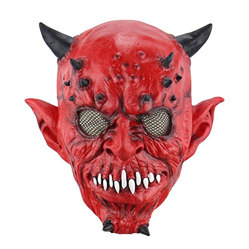 Balai Halloween Mask for Festival Cosplay Halloween Costume Party Props Masks Horror Mask - Latex Walking Dead Mask Alien Head Mask Butcher Mask Skull Mask Scared Ghost Head Costume Decorations]()