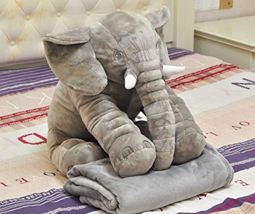 comprar barato GMADD Muñeca de de de Elefante de Peluche de Juguete Suave Almohada bebé Que acompaña a Dormir muñeca Regalo de los niños Lindo con una uomota de 80 cm  promociones de descuento