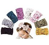 Baby Girl Nylon Headbands Newborn Infant Toddler Hairbands Bow Knotted Children Soft Headwrap