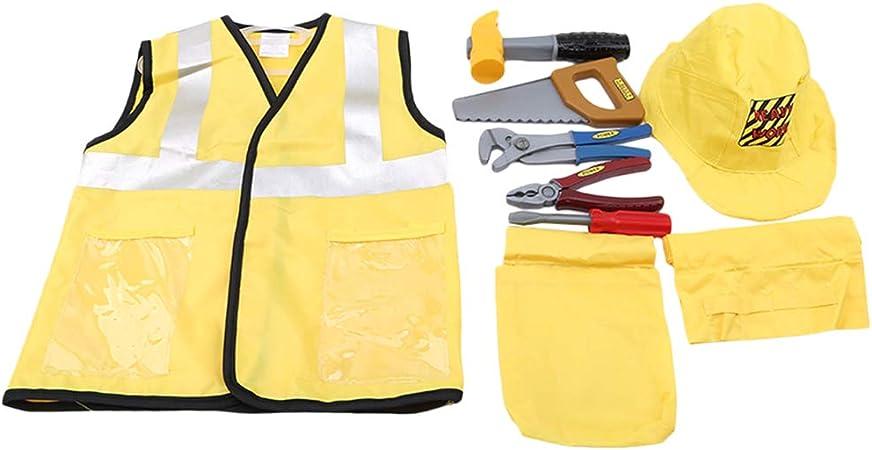 Toyvian - Disfraz Infantil de obrero de construcción, Juego de rol ...