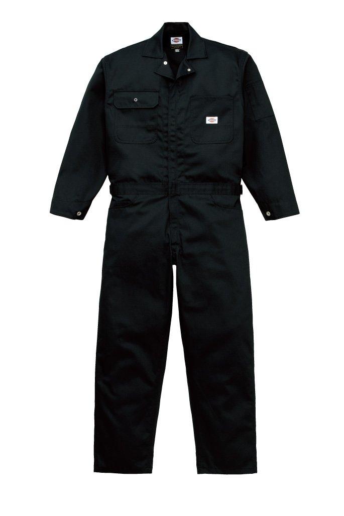 [ディッキーズ]Dickise【ツナギ服】年間物ツヅキ服へリンボン柄《059-21-1002》 B017P9KROC S|BC ブラック BC ブラック S