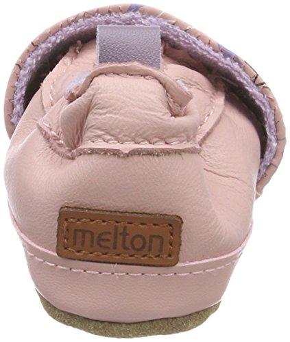 Melton Baby Mädchen Krabbelschuh Sternenhimmel Mehrfarbig (Blush Rose)