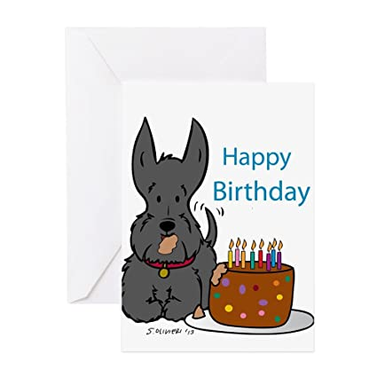 Amazon Cafepress Bad Birthday Scottie Greeting Cards