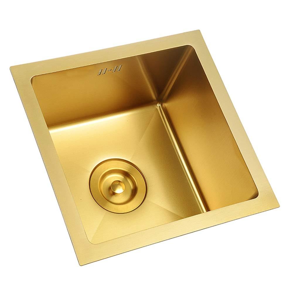 Accessori per lavelli Lavello da Cucina Mini lavello a Tromba in Oro Acciaio Inossidabile Lavastoviglie in Metallo Contenitore for la Pulizia della Barra Durevole