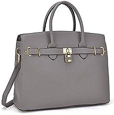 ef47eb49eb9f Dasein Women s Top Handle Satchel Handbags Designer Tote Purse ...