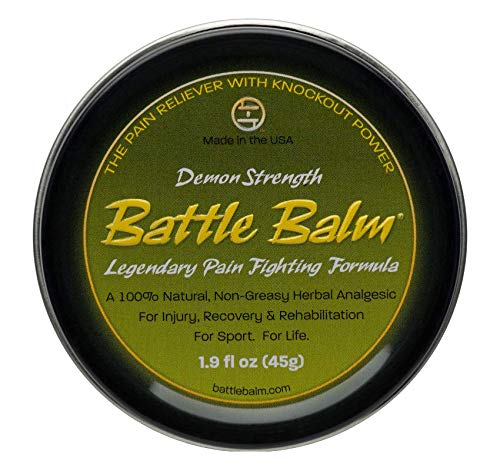 Demon Strength Pain Relief (1.9-Ounce) - Battle Balm | All-Natural and Organic Topical Analgesic for Arthritis, Muscle Soreness, Sprains, Strains and More.