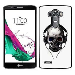 LECELL--Funda protectora / Cubierta / Piel For LG G4 -- Golpes del cráneo --