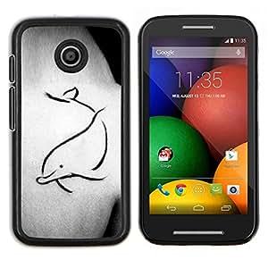Eason Shop / Premium SLIM PC / Aliminium Casa Carcasa Funda Case Bandera Cover - Tattoo Body Art Pintura simple - For Motorola Moto E ( 1st Generation )