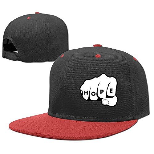 [Custom Unisex Hope Hand Snapback Hip Hop Hats Red] (Brad Pitt Costume Ideas)