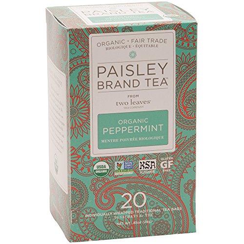 (Paisley Brand Tea, Organic Peppermint, Box of 20 Tea Bags)