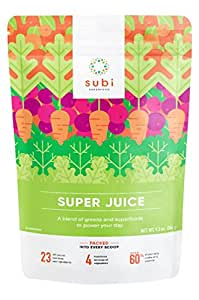 Subi | Best Green Superfood | Raw Ingredients: Matcha, Kale, Barley Grass, Spirulina, Acai, Goji Berry + More | Morning Energy Booster | 40 Day Supply