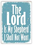 The Lord is My Shepherd Metal Plaque Tin Sign Poster Wall Art Cafe Club Pub Home Decoration