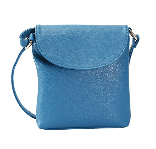 Blue Crossover (JollyChic Women's Candy Color Cross Body Shoulder Bag)