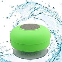 Soundworx Mini Bocina VERDE Resistente al Agua con Bluetooth 3.0, Portable con Manos Libres y