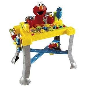 Amazon Com Sesame Street Sing N Giggle Tool Bench Toys