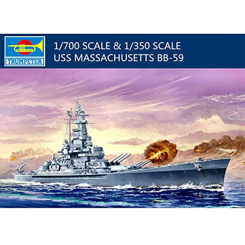 (Trumpeter 05761 USS Massachusetts (BB-59), 1/700 Scale Plastic Model Kit)