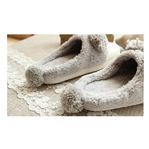 TOMATO-smile - Zapatillas de estar por casa para mujer gris