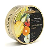 Simpkins Original Travel Sweets, Mixed Fruit Drops, 200 Gram Tin (Pack of 6)