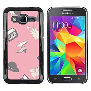 LECELL--Funda protectora / Cubierta / Piel For Samsung Galaxy Core Prime SM-G360 -- Design Pink Clothing Shoes --