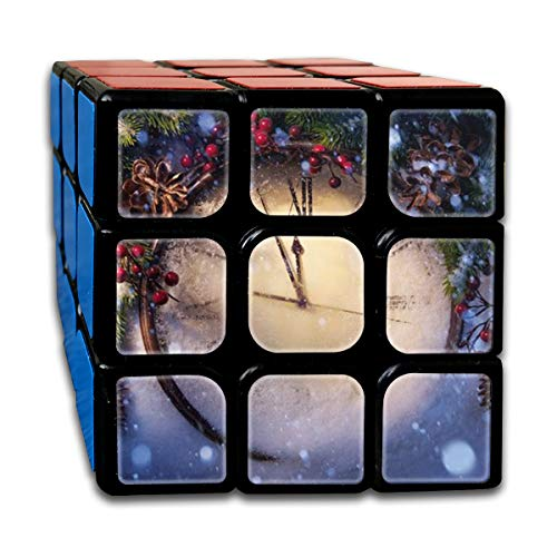 (BSOTFY 3x3 Rubik Cube Christmas Clock Smooth Magic Cube Sequential Puzzle)