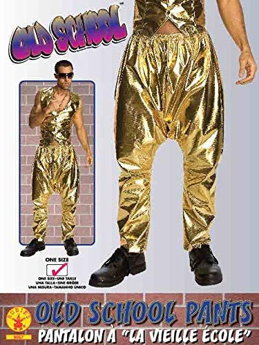 Old School Adult Man Baggy Gold Lame Costume Pants